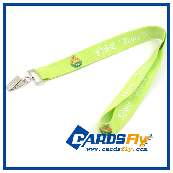 Alibaba hot selling promotional high quality alligator clip lanyard no minimum order
