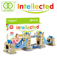3D IQ puzzle for kid 3D london tower Bridge model
