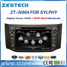 factory new! car dvd car video interface for Nissan Bluebird SYLPHY/Sentra car gps cd player ,radio bluetooth,Video out,USB/SD