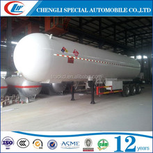 High quality LPG tank trailer transport propane transport trailers for sale in Nigeria