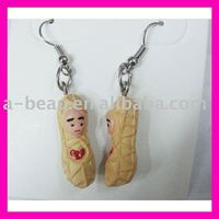 Artificial peanut earrings
