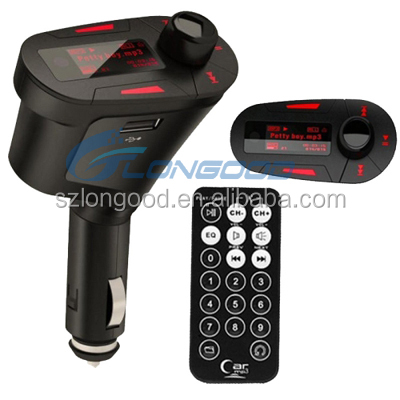 Tacking Handsfree Car Kit FM Transmitter with Remote Control