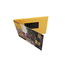 LCD Video Greeting Card/LCD Video brochure/LCD Video Booklet for advertisement, business