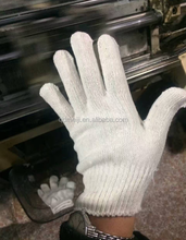 7 gauge 10 gauge safety cotton knitted gloves white cotton hand gloves cotton gloves for industrial use