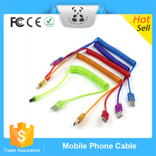 Factory Supply New Color Spring Extension Micro USB Charger Cable Cord For Samsung Galaxy S4 HTC Android Phones