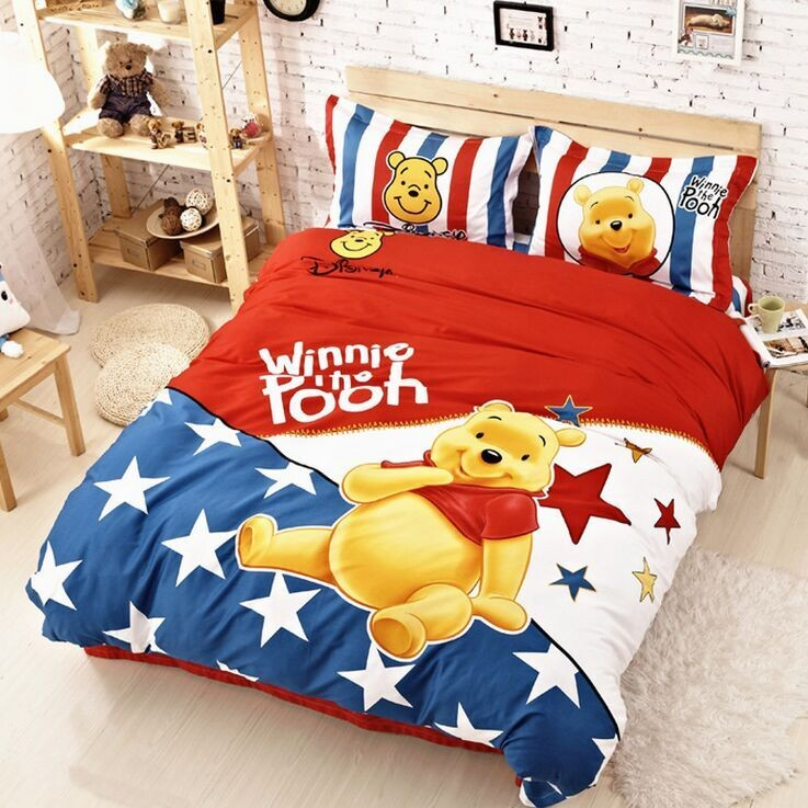 High Quality 100 Woven Cartoon Personality Bedding Set