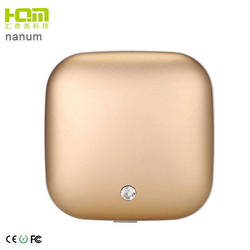 Fashionable Design Champagne Gold Best External Battery Power Bank For Mobile Phone