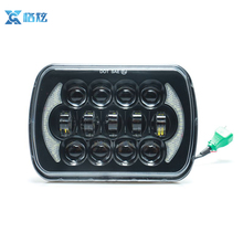 "DRL 7""x6"" 5x7 LED Headlights HID Light Bulbs Crystal Clear Square Sealed Beam Headlamp for vehicles head lamp"