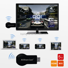 1080P Smart TV Stick Miracast DLNA Airplay WiFi Display Receiver Dongle for Window MacOS iOS Android