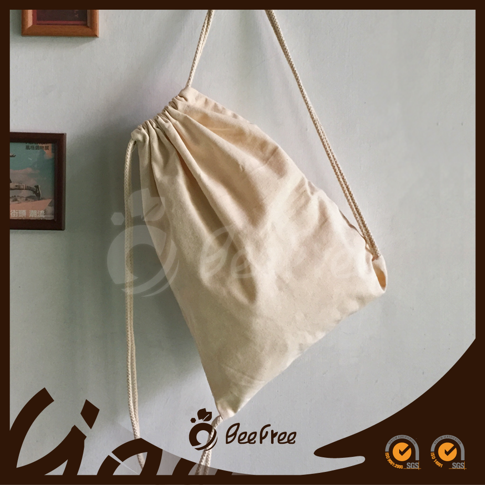 New Arrival Top Handmade Custom Canvas Backpack Drawstring Bag