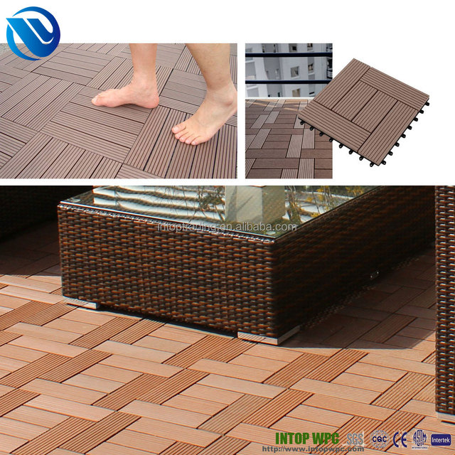 wpc DIY decking tile outdoor cheap composite decking made in china