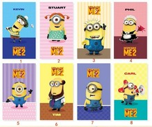 2013 New Arrive Cute Anime Despicable Me 2 Minions Smart PU Leather Stand Case Cover Skin For ipad 234