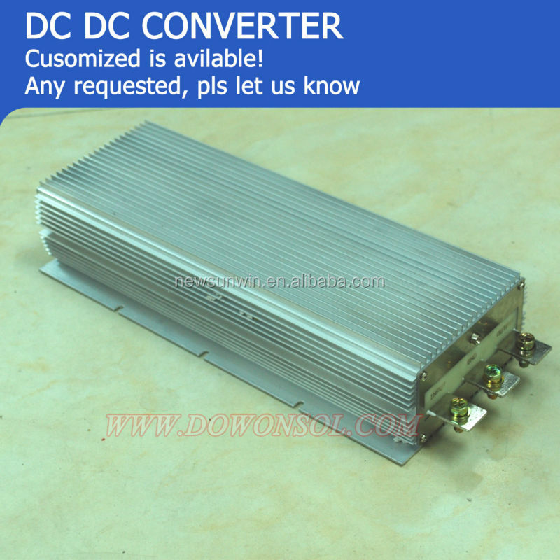 Powerful 3kW dc buck/boost converter 24v to 48v 60A 3000W waterproof