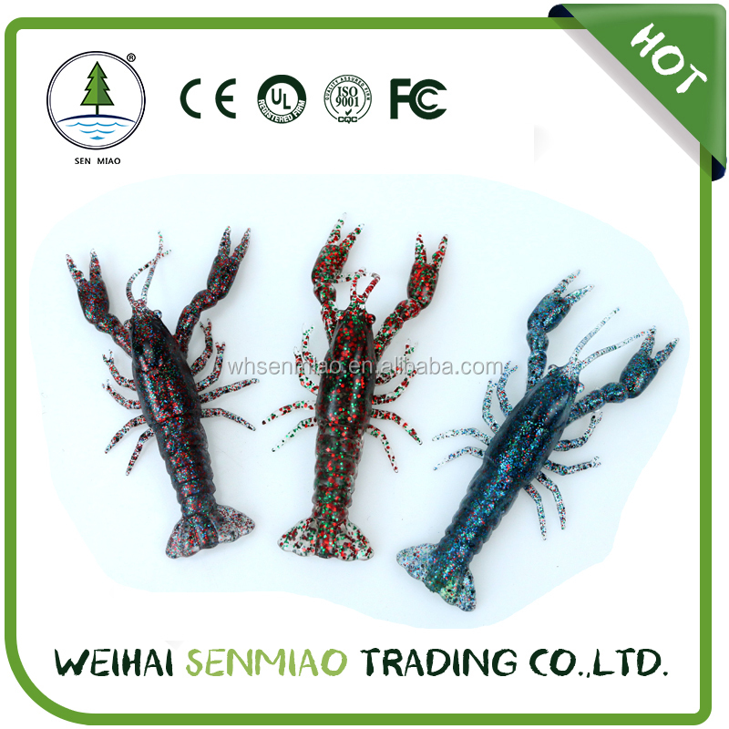 12cm 19.3g Soft Plastic Lobster Lures Wholesale New designed Janan Technology,plastic fishing lure lobster ,100% soft plastic