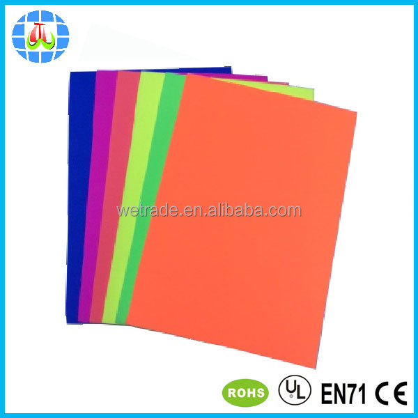bright color fluorescence EVA foam sheet for kids craft