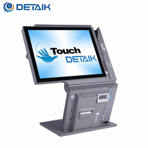 Multifunction Pos 15 Inch All in One Pos Terminal with Printer Dual Screen Touch Point of Sale System