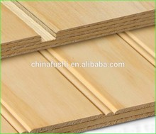 High Quality Pine Veneered Grooved Plywood for decoration