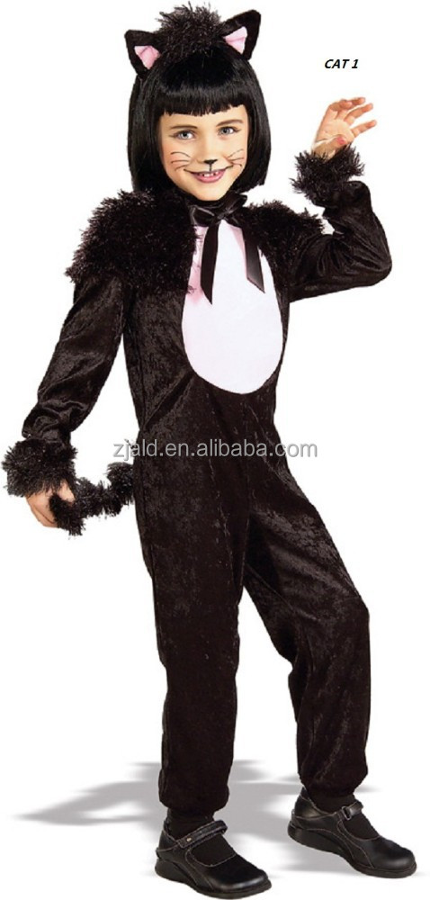 Girls masquerade concepts black cat costume for kids
