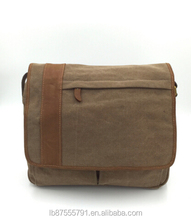 Single Shoulder Casual Messenger Bags Men Canvas Leather Shoulder Bag
