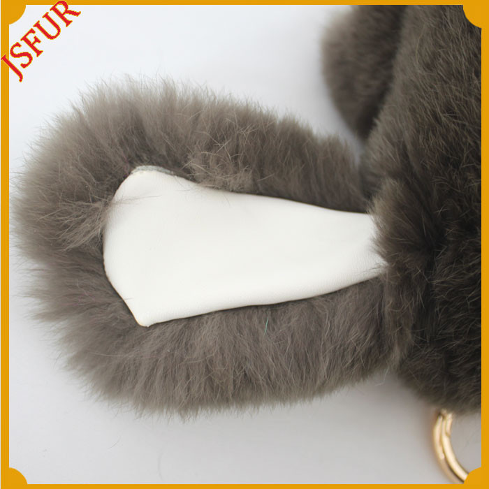 Wholesale Copenhagen Rex Rabbit Fur Bag Charm Luxury Keychain