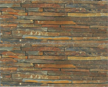 Multicolor slate thin stone veneer panels for exterior wall