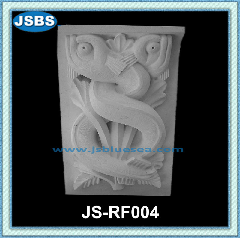 Decorative Carved Fish Wall Board Stone Relief