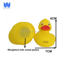 Float upright numbered duck rubber weighted race duck