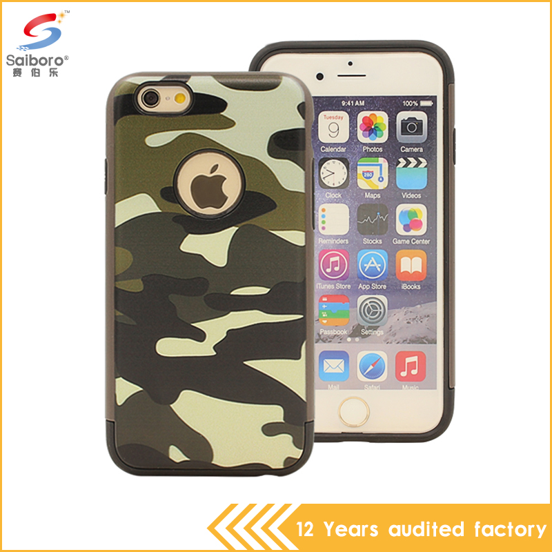 Hot Selling Camouflage Pattern Forest Camo 3 Styles Pc Tpu Shockproof Phone Case for iPhone 6