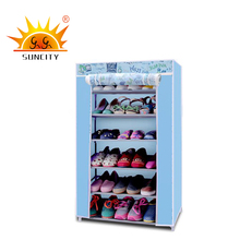 Tower organizer non-woven fabric metal shoe rack