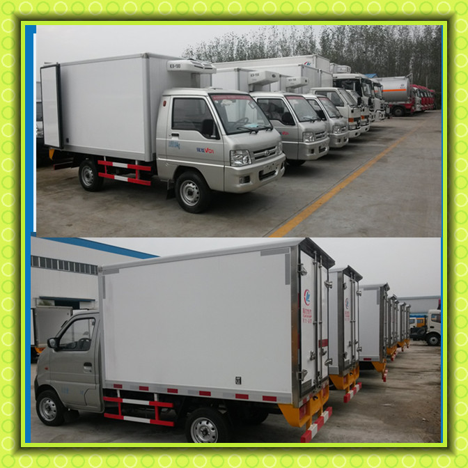 FOTON MINI Refrigerator Truck Thermo King Meat Transportation Cooling Van Truck Small Freezer Truck For Sale
