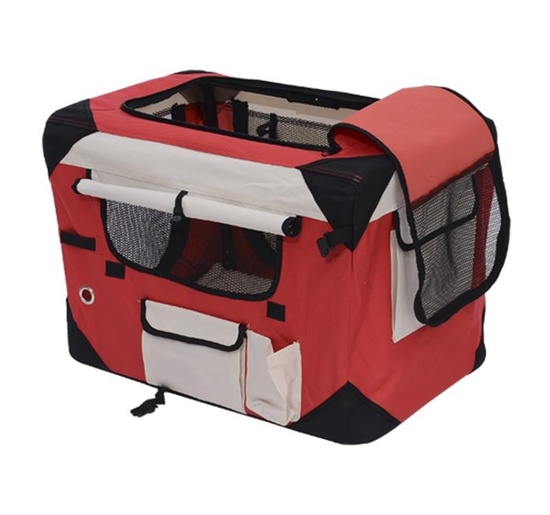"40"" Soft Sided Folding Crate Bike Pet Carrier"