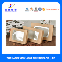 Free Sample Custom disposable takeaway food packaging kraft salad boxes with window