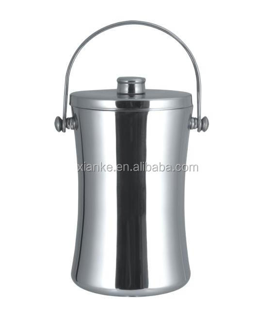China supplier 2.0L stainless steel ice bucket wine chiller with handle