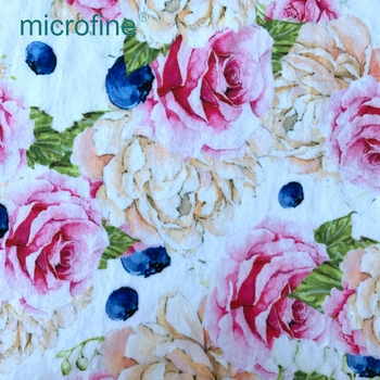 Fashion microfiber polyester digital printing velvet velour home textiles