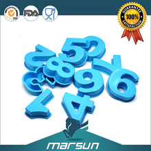 Best Kitchen Product Cake Decorations Letter and Numbers Silicone Mold