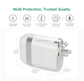 Wall Charger,5V/2.4A 2-Port USB Wall Charger Home Travel Plug Power Adapter For iPhone 7/7 plus, 6s/6s plus,