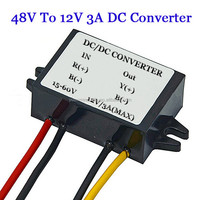 Factory Directly 48V To 12V 3A DC DC Converter For Car