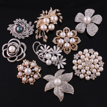 Jewelry factory wholesale cheap Deluxe Rhinestone Wedding Brooch