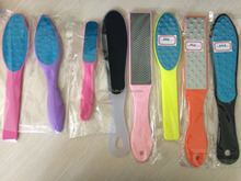 Stainless steel pedicure foot file, professional metal callus remover foot file with plastic handle