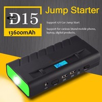 New Model Double USB Battery Power Booster 13600mAh Auto Jump Starter with 19V Laptop Power Supply LCD Screen