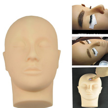 eyelash extension Rubber Practice Training Head Cosmetology Mannequin Doll Face Head