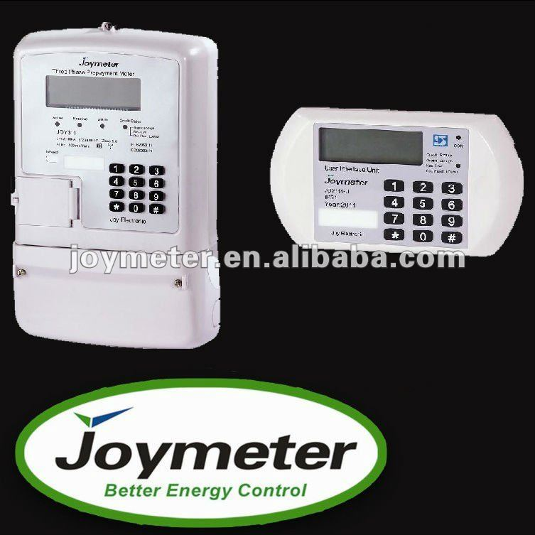 Split STS Triple-Phase Code energy/Electric Meter