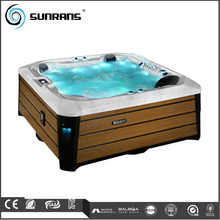 Sunrans new design cheap 5 person spa Import Acrylic outdoor massage spa