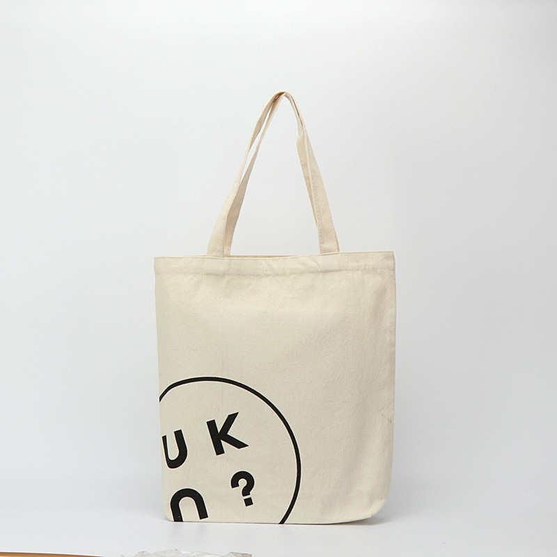 New design standard size natural cotton canvas tote bag