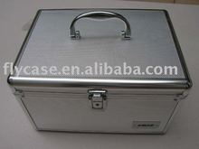 2013 silver aluminium CD case,DVD case with CD bags and safe locks holds can 100to 2000 CD bags