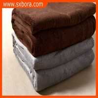 Promotional portable wholesale alibaba china solid coral fleece blanket