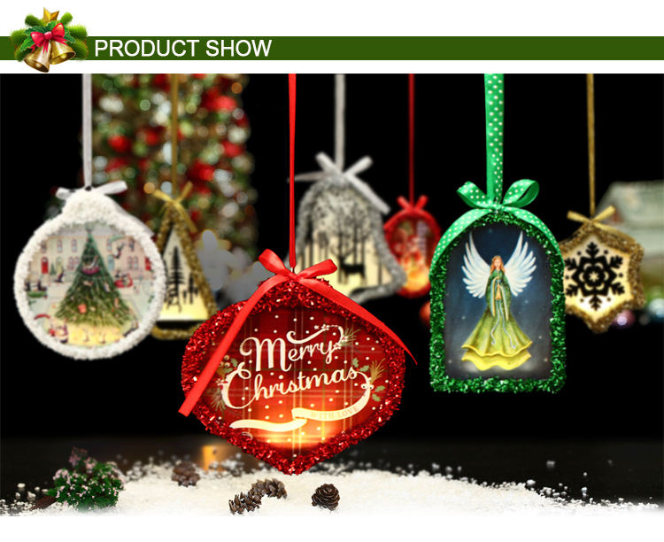 Christmas light hangers LED Christmas Party Decorations lighted glass christmas tree
