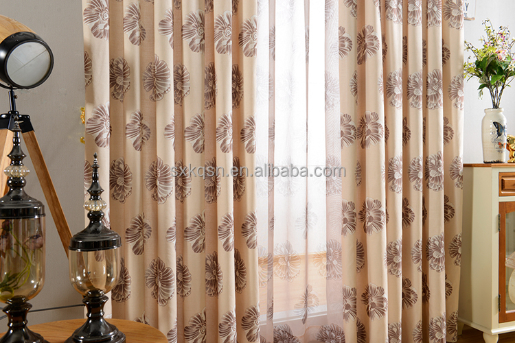2017 Top blackout printed sheer curtain panels