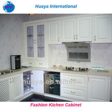 2013 Hot Sale White High Glossy PVC Kitchen Cabinet