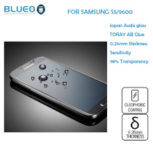 BLUEO Ultra Thin 0.26mm 9H HD clear Anti-Fingerprint for Samsung S5 i9600 tempered glass screen protector